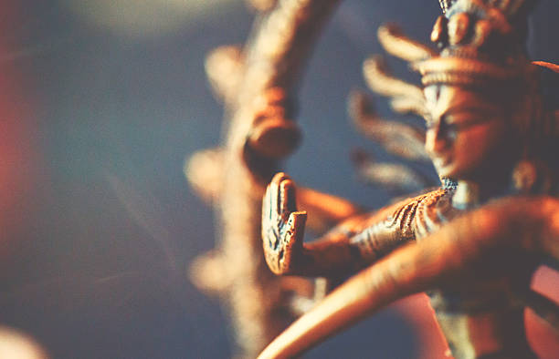shiva sculpture - hinduism stock photos and pictures