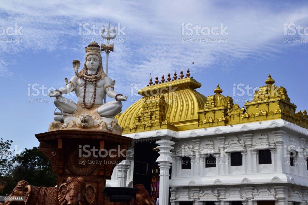 Shiva statue near hindu temple stock photo