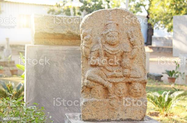 Шива Стоун Находится В Музее Под Открытым Небом В Хампи Индия Каменная Скульптура — стоковые фотографии и другие картинки Азия