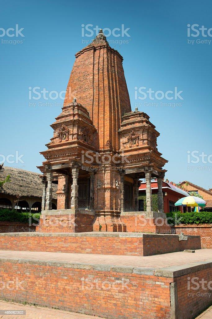 Shiva temple on a Durbar square of Bhaktapur stock photo