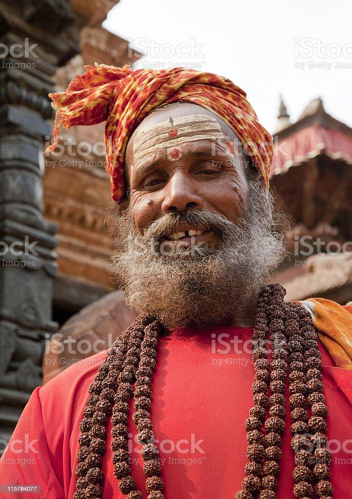 Shivite Sadhu in Patan Nepal royalty-free stock photo