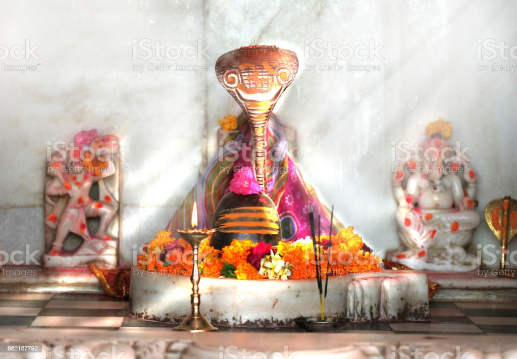 Shivling statue stock photo