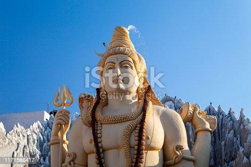 Lord Shiva statue at the Shivoham Shiva Temple, located in Bangalore city in Karnataka, India