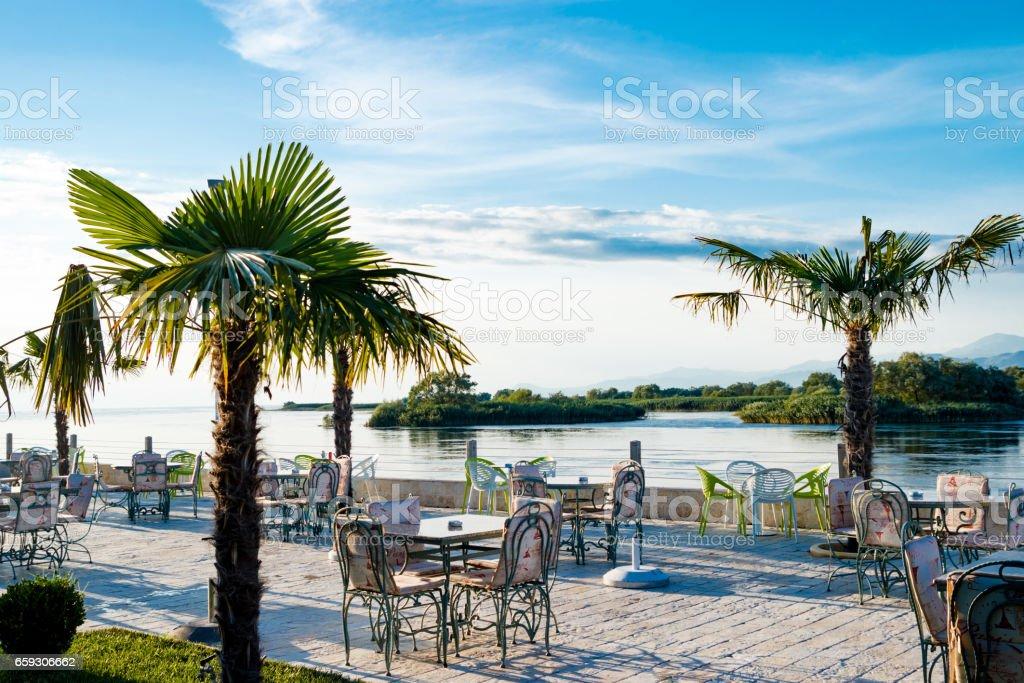 Shkoder Albania Lake View stock photo