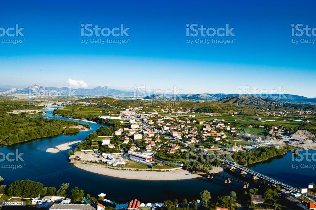 Shkoder Albania River View stock photo