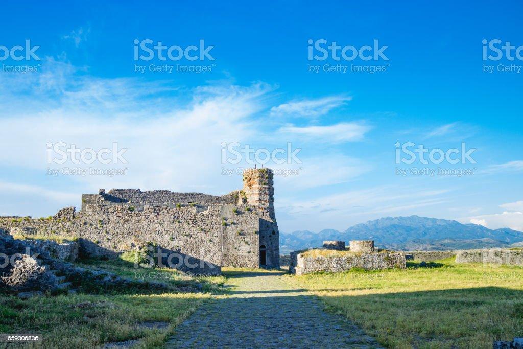 Shkoder Albania Rozafa Castle stock photo
