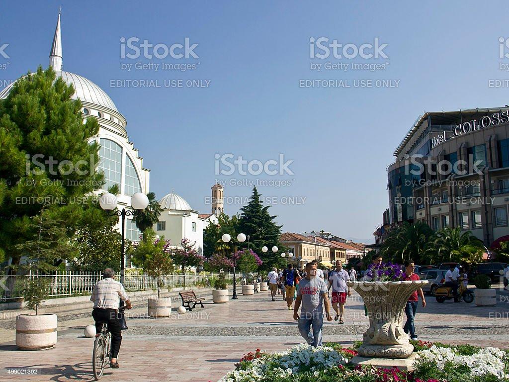 Shkoder Downtown stock photo