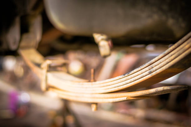 shock absorber and suspension - molla foto e immagini stock