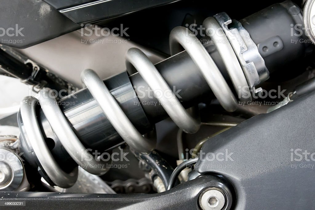 Shock Absorber s motorcycle stock photo