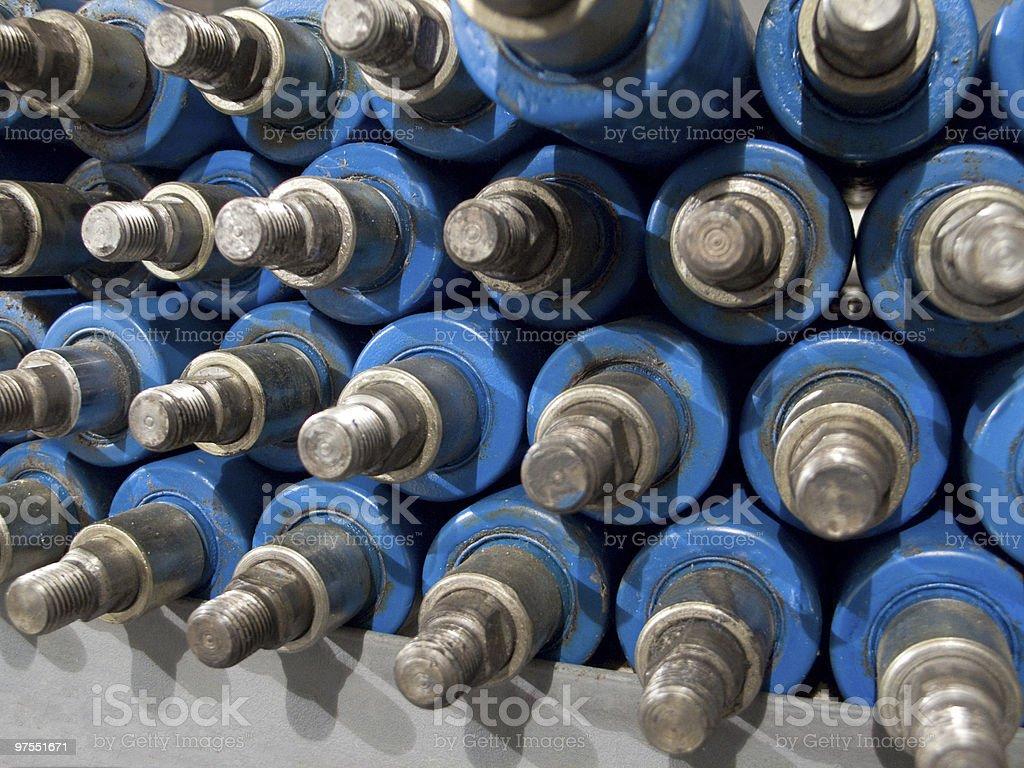 Choc absorbers de stockage photo libre de droits