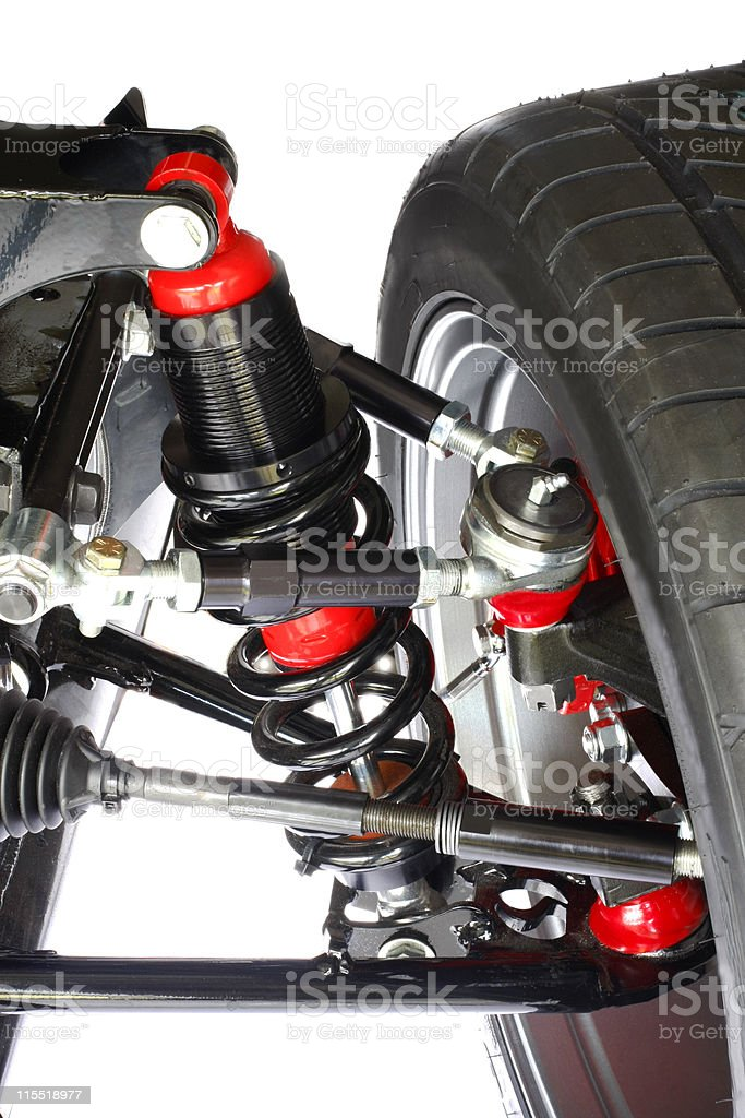 Shock and Brake Assembly r stock photo