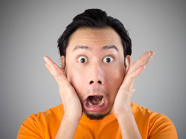 shock and surprise face. - omg stock photos and pictures