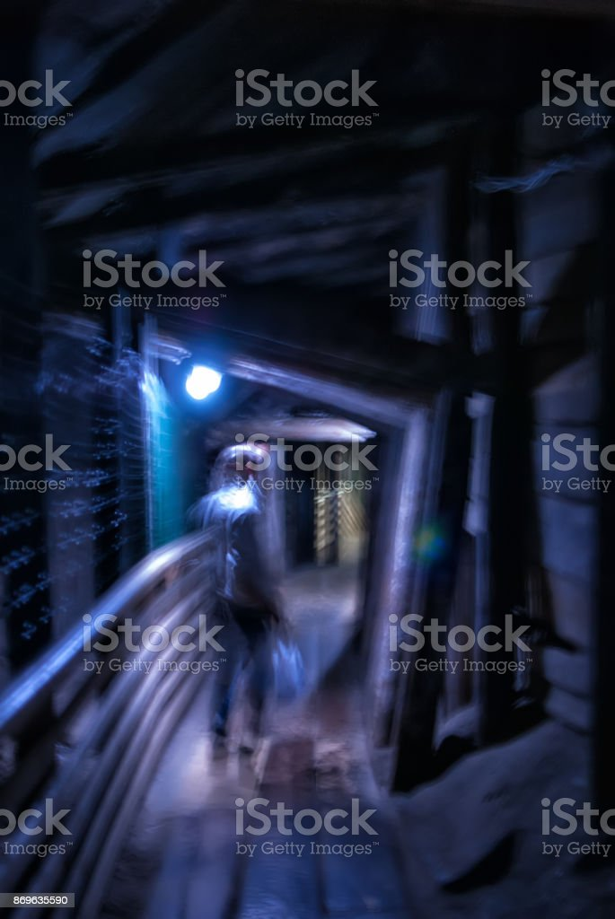 Shock blur effect photo stock photo