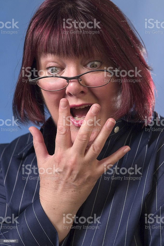 Shock horror royalty-free stock photo