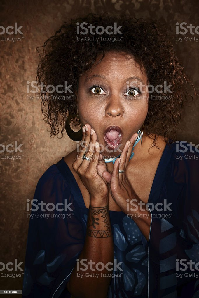 Shocked African-American Woman royalty-free stock photo