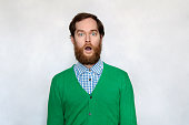 istock Shocked bearded man with open mouth 936604016