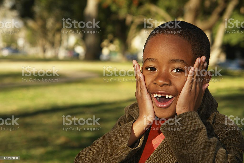 Shocked Boy royalty-free stock photo