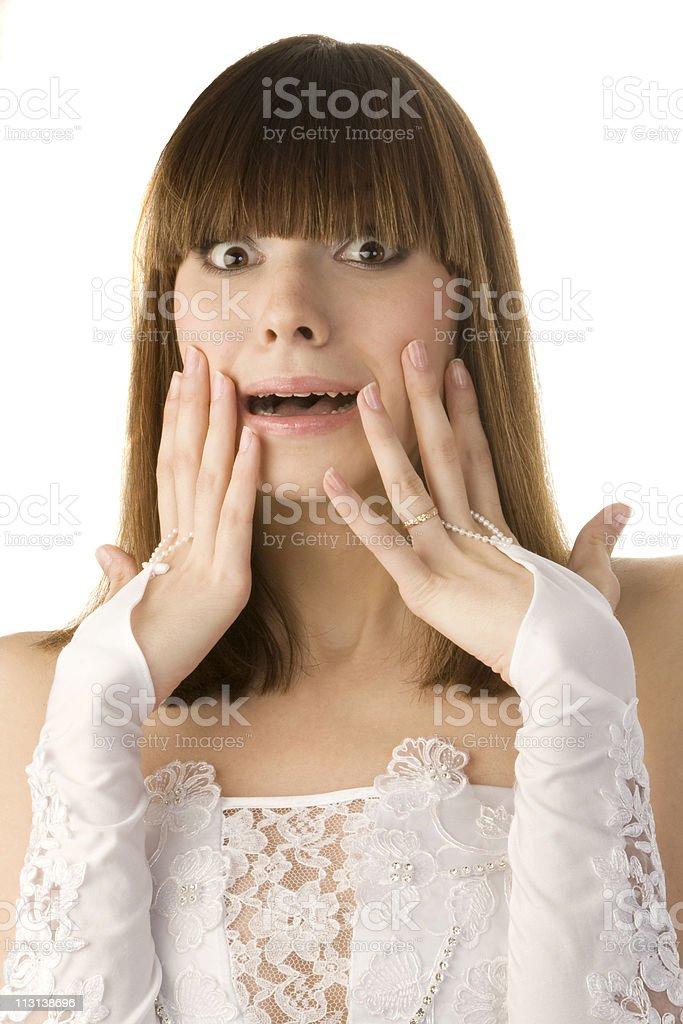 Shocked bride royalty-free stock photo