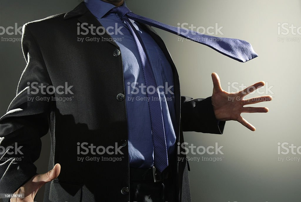 shocked business man stock photo
