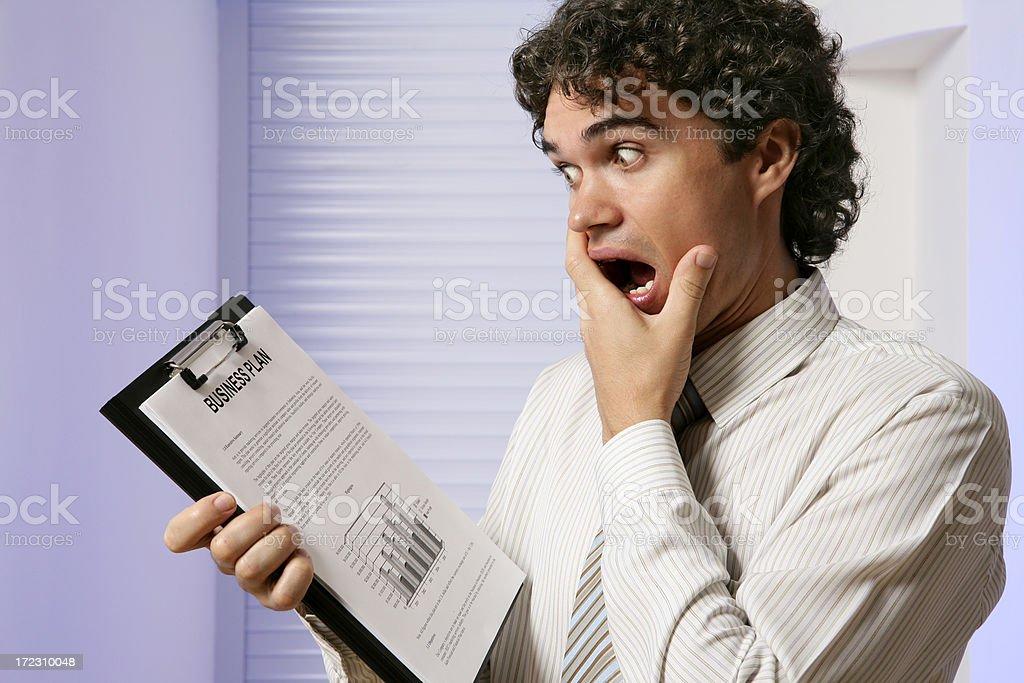 Shocked businessman royalty-free stock photo