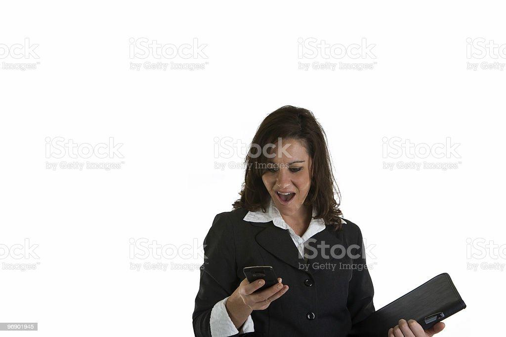 Shocked Businesswoman royalty-free stock photo