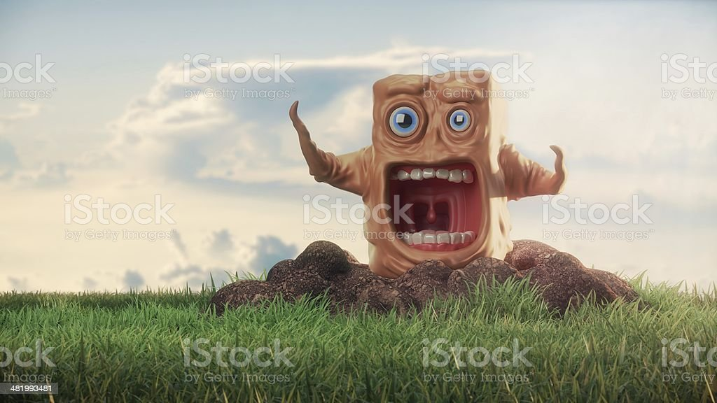 Shocked character stock photo