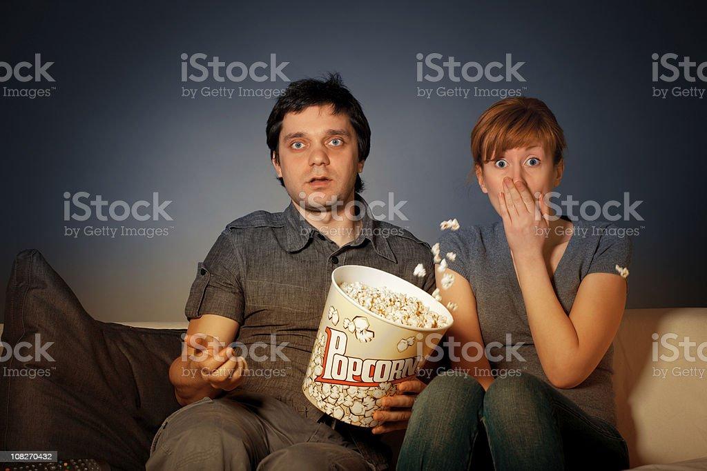 Shocked couple stock photo