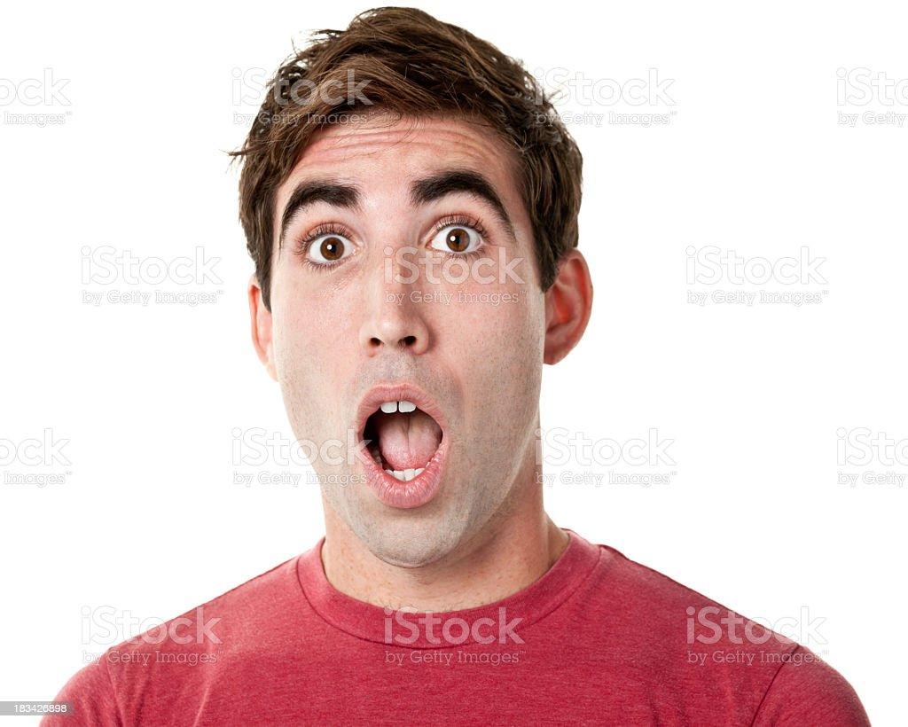 Choqué de jeune homme Avoir le souffle coupé - Photo