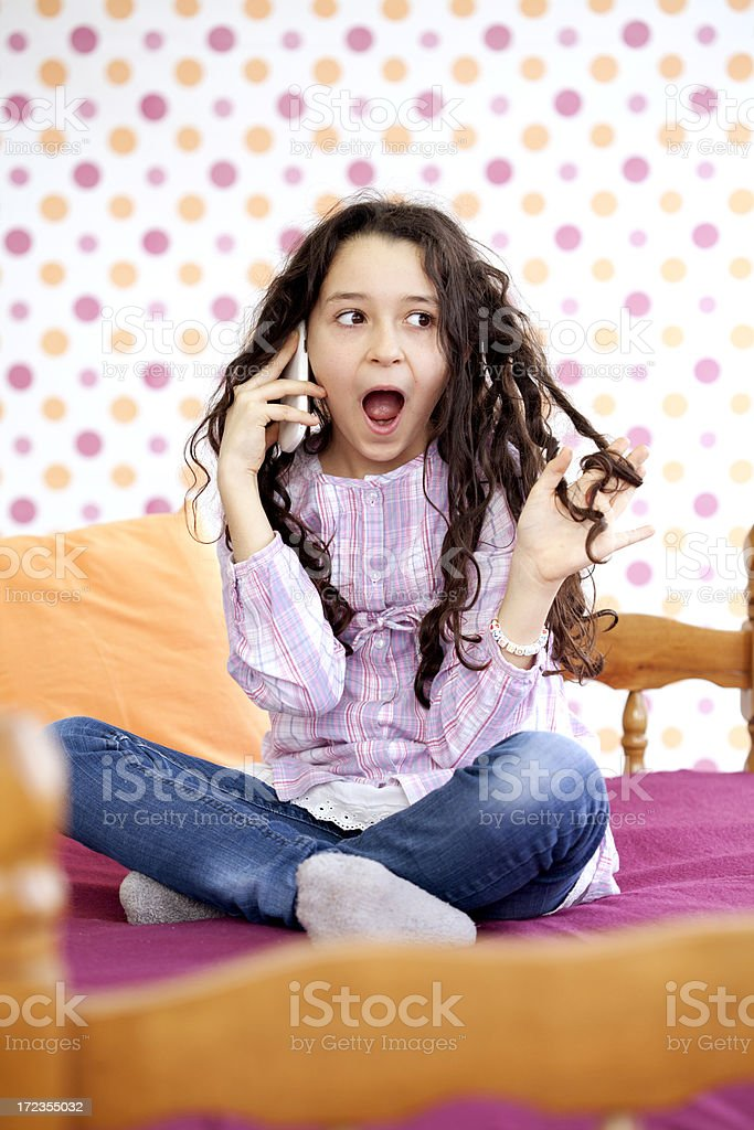 shocked girl royalty-free stock photo