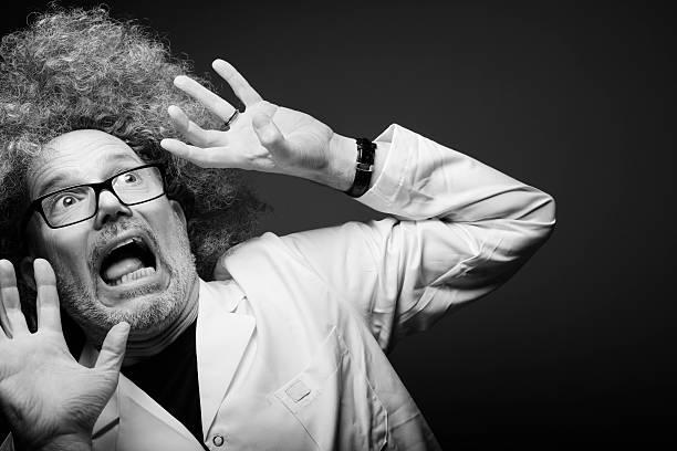 Shocked Mad Scientist stock photo