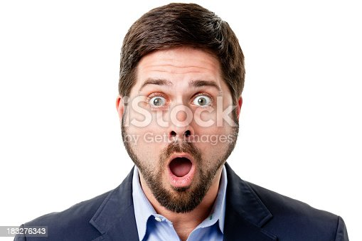 istock Shocked Man Gasps And Raises Eyebrows 183276343