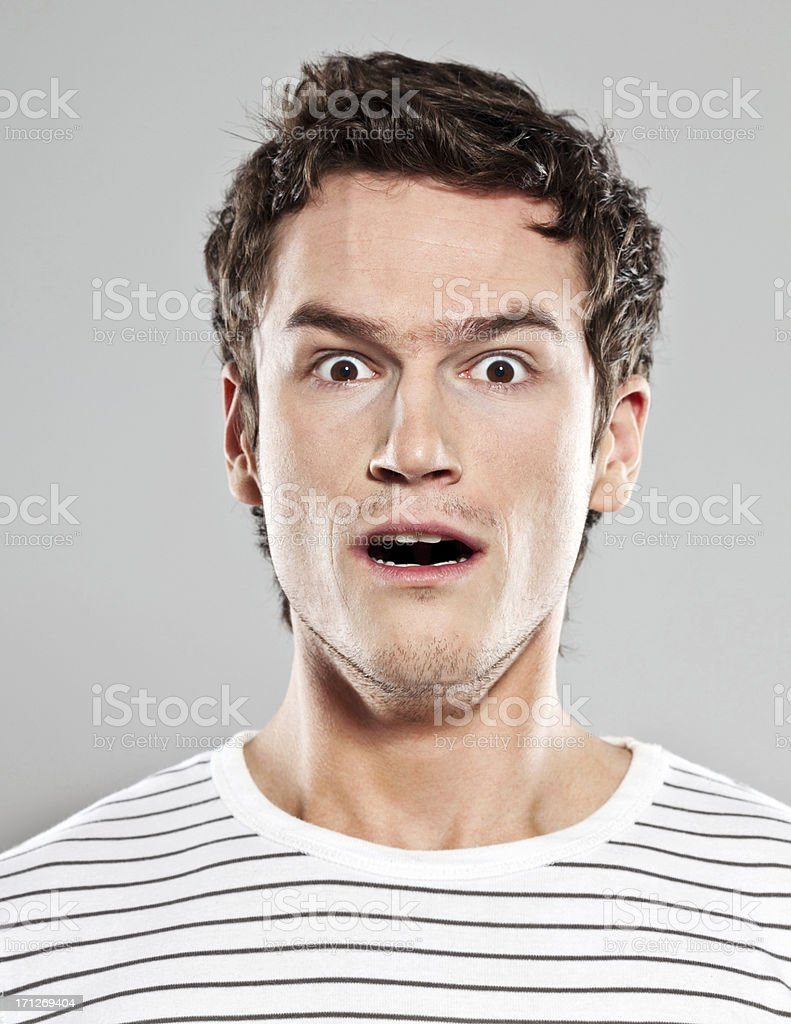 Shocked man stock photo