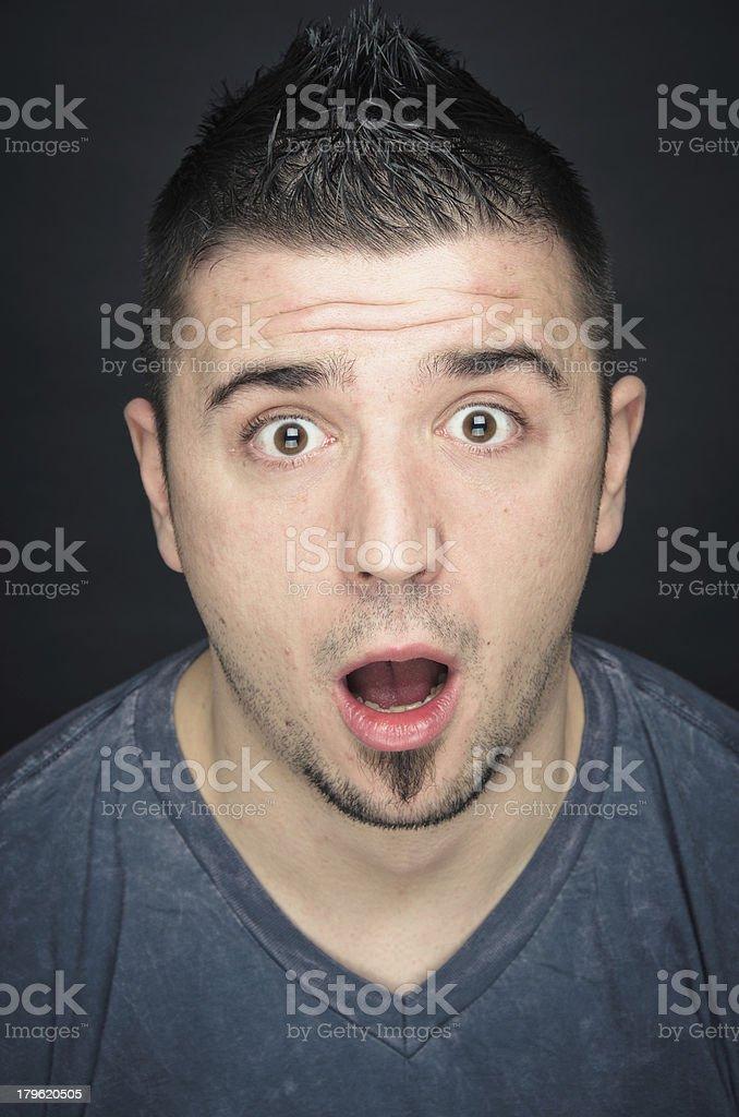 Shocked Man royalty-free stock photo