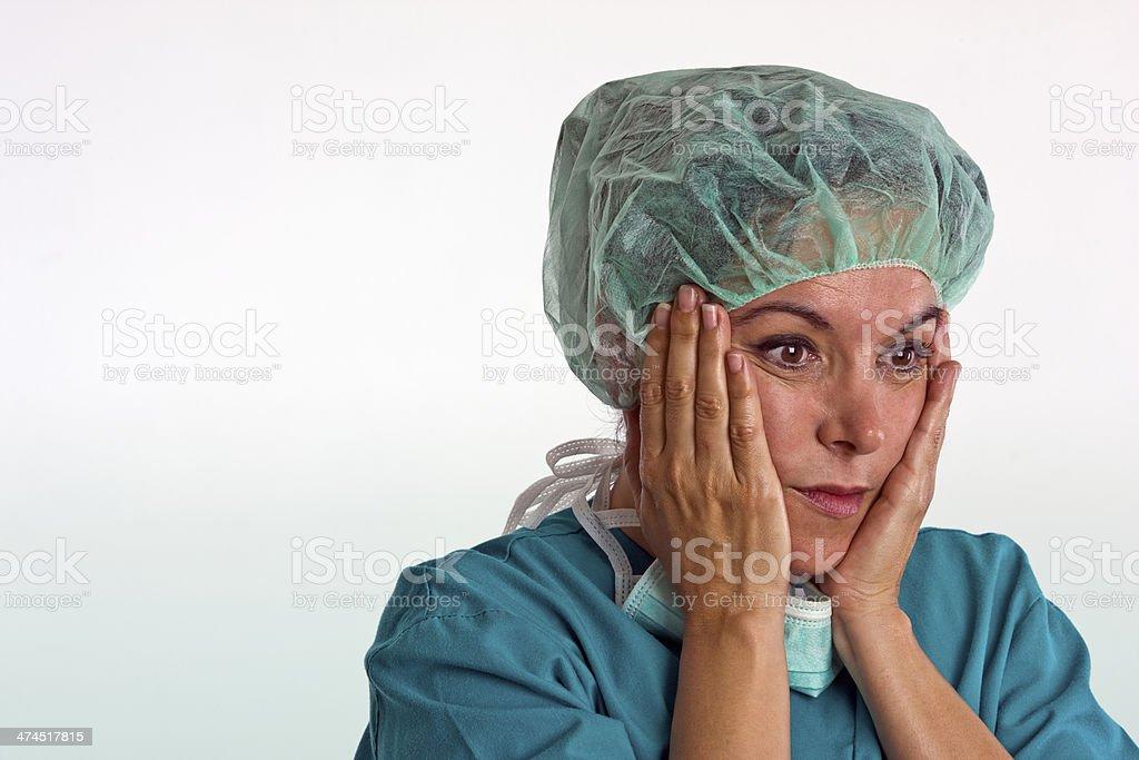 Shocked Mature Female Surgeon royalty-free stock photo
