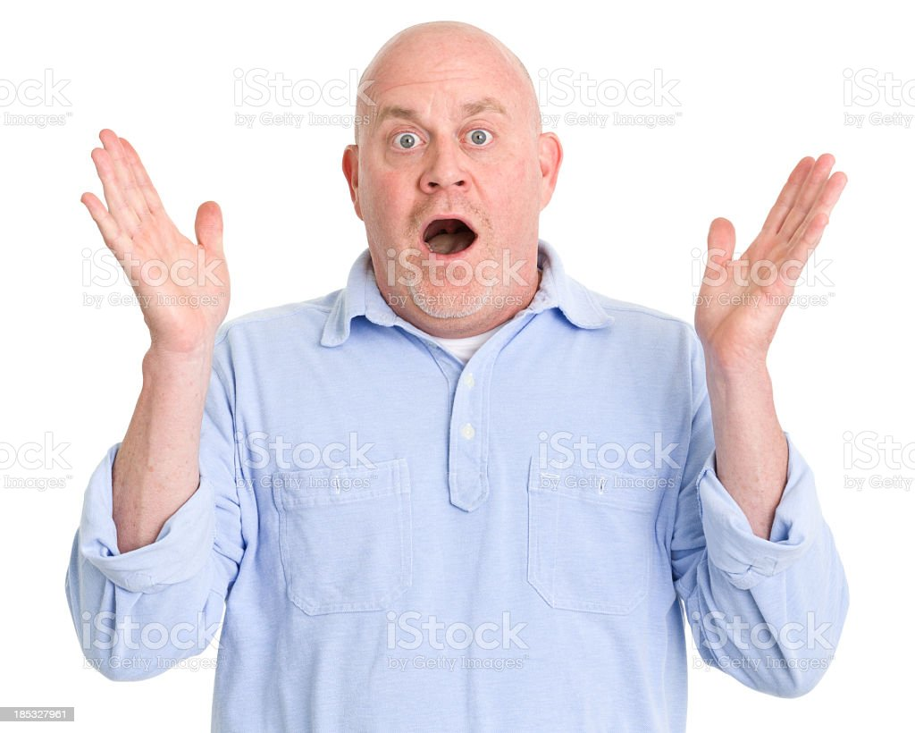 Shocked Mature Man stock photo