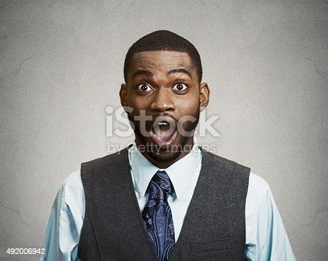 istock Shocked, surprised business man 492006942