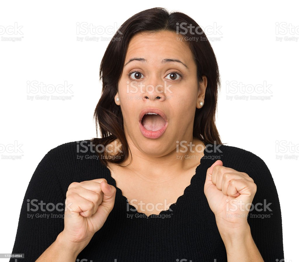 Shocked Woman, Mouth Open royalty-free stock photo