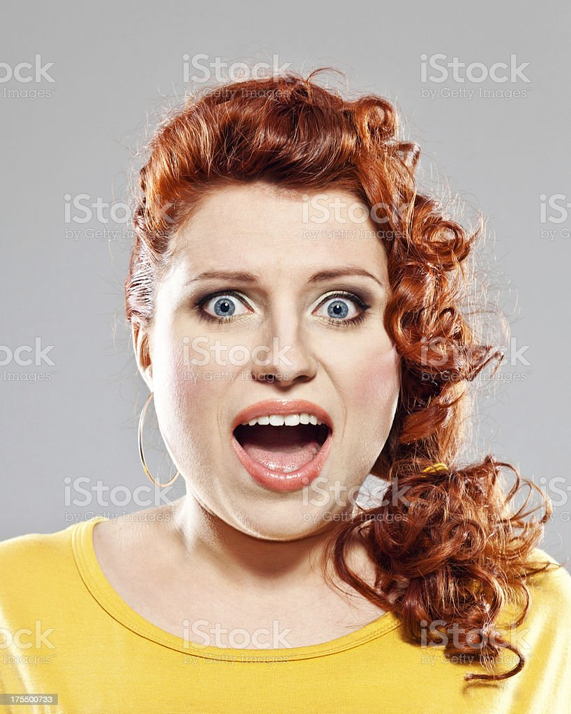 Shocked woman royalty-free stock photo