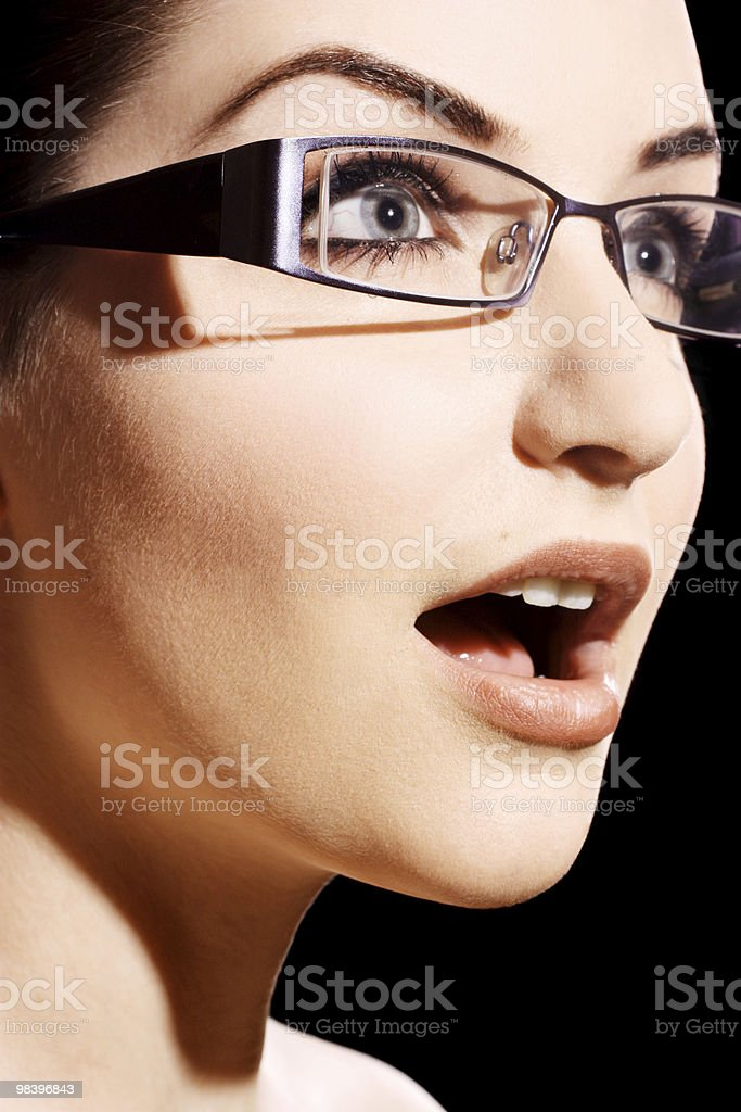 Shocked woman royalty-free stock photo