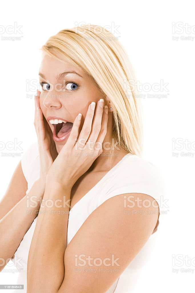 Shocked young female royalty-free stock photo