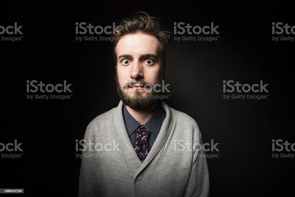 Shocked young male royalty-free stock photo