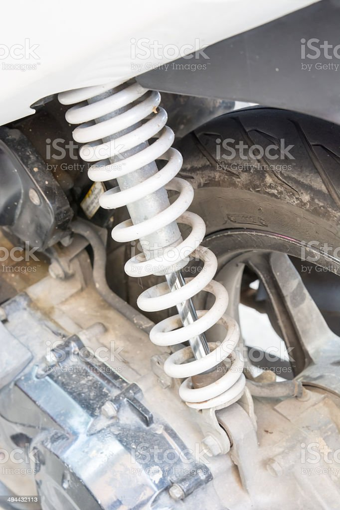 Shocker of motorcycle stock photo