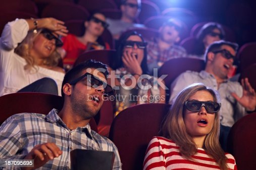 istock Shocking 3D movie in cinema 187095695