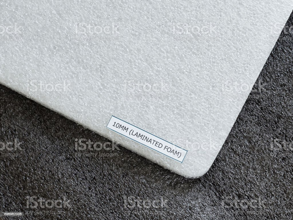 Shockproof material Polyethelene foam stock photo