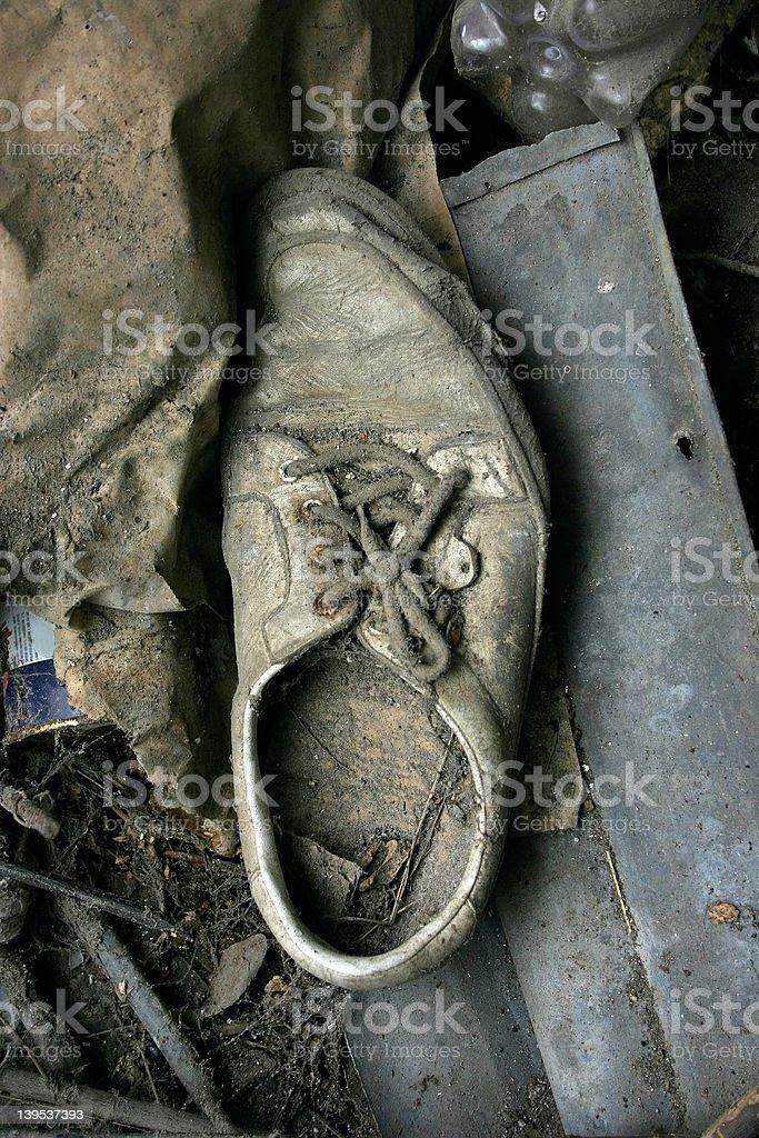 shoe abandoned royalty-free stock photo
