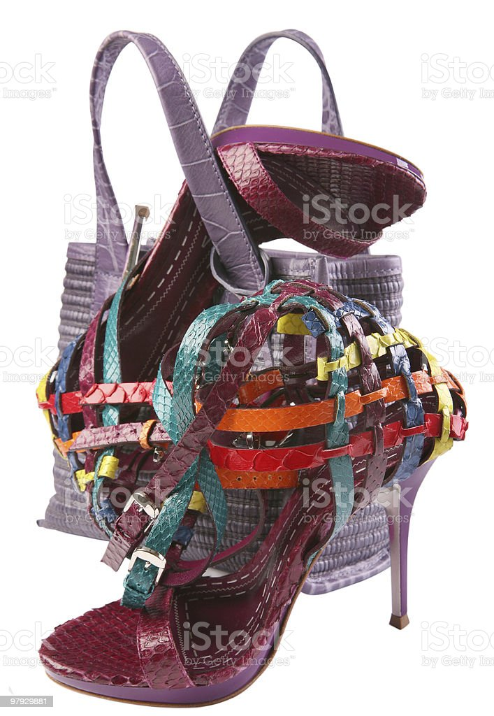 Shoe and bag royalty-free stock photo