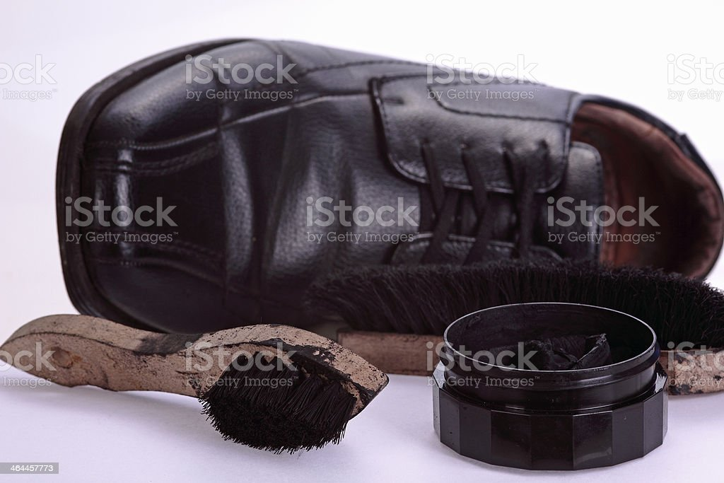 shoe and shoes cleaning kit royalty-free stock photo