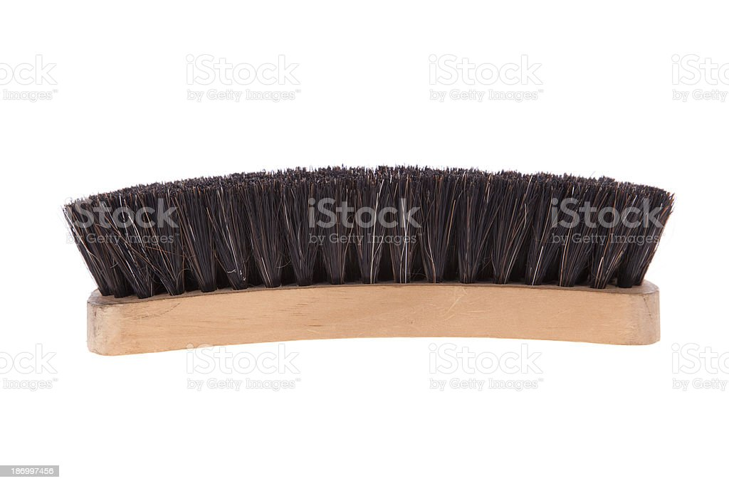 Shoe brush isolated on a white background stock photo