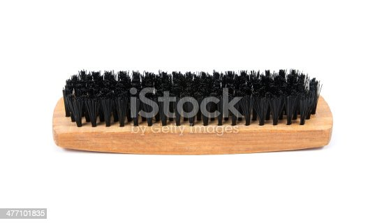 istock shoe brush on white background 477101835