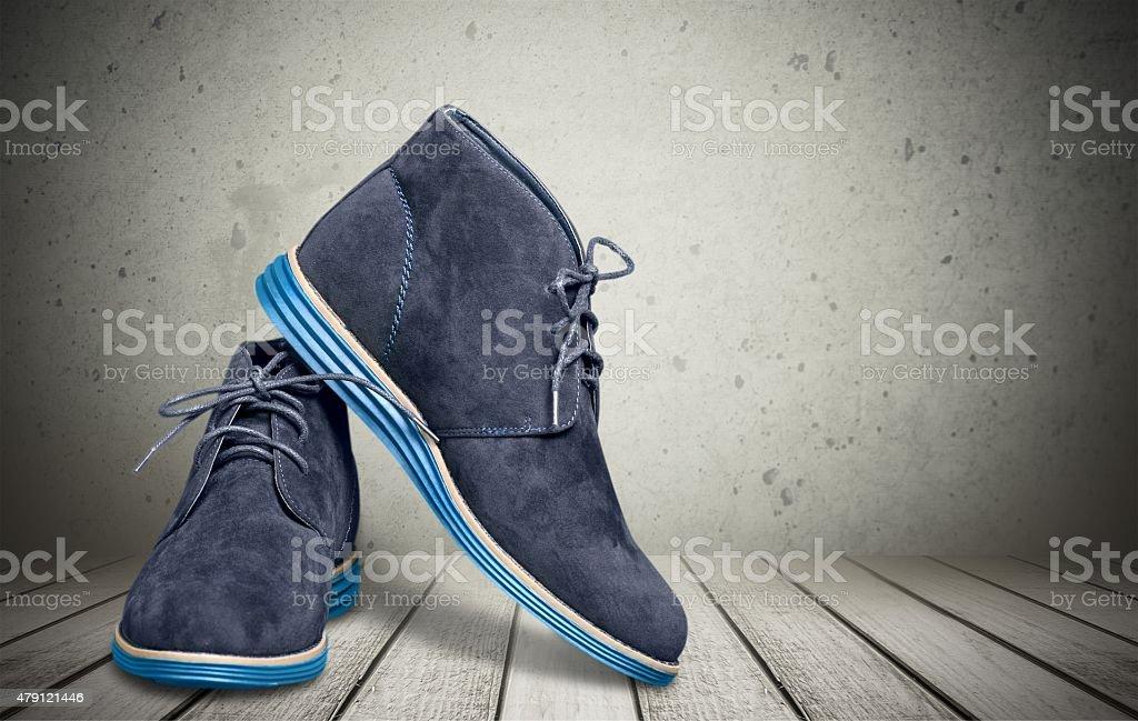 Shoe, Dress Shoe, Blue stock photo